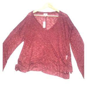 Burgundy Old Navy light sweater